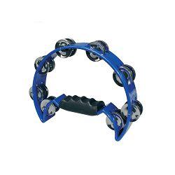 Hayman half moon tambourine - blue