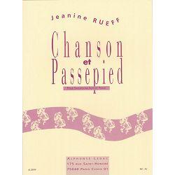 Jeanine Rueff: Chanson et Passepied for alto saxophone