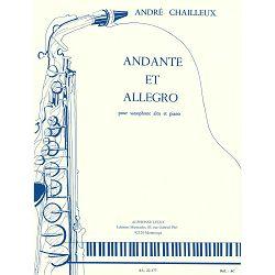 André Chailleux: Andante et Allegro-Saxophone Mib et Piano