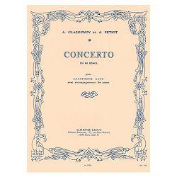 Concerto En Mi Bemol - Saxophone Mib Et Piano By Alexander Glazunov. For E-flat Saxophone and Piano