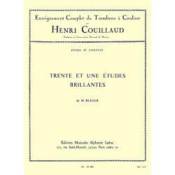 Couillaud Henri: Trente et Une Etudes Brillantes - Trombone a Coulisse