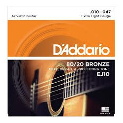 D'Addario EJ10 žice za akustičnu gitaru 10-47