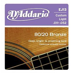 D'Addario EJ13 žice za akustičnu gitaru 11-53