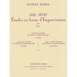 Eugène Bozza: 18 Etudes en forme d'improvisation pour Cor