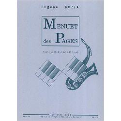 Eugene Bozza: Menuet Des Pages-Saxophone Mib et Piano