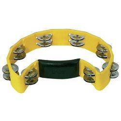Gewa Half Moon Tambourine - yellow