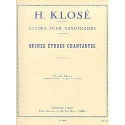 H. Klose: 15 Etudes Chantantes-Saxophone