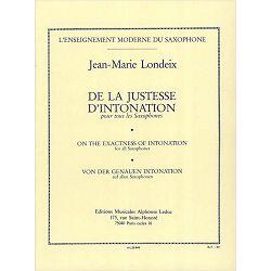 Jean-Marie Londeix: De la justesse d'intonation tous saxophones
