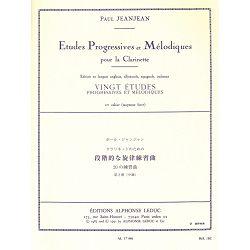 Jeanjean, Paul: 20 Etudes Progressive et Melodiques Vol.2 - Clarinet