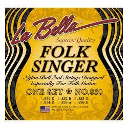 La Bella 830 Folksinger žice za klasičnu gitaru Medium Tension