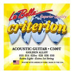 La Bella C500T žice za akustičnu gitaru 10-50