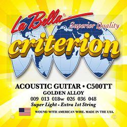 La Bella C500TT žice za akustičnu gitaru 09-48