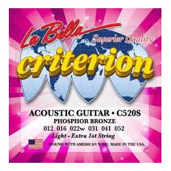 La Bella C520S žice za akustičnu gitaru 12-52