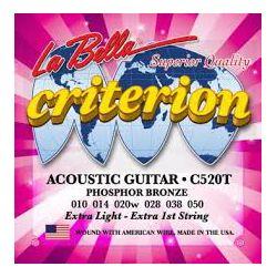 La Bella C520T žice za akustičnu gitaru 10-50