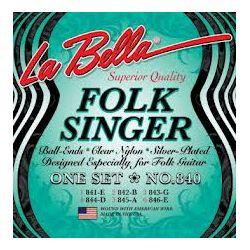 La Bella 840 FOLKSINGER žice za klasičnu gitaru Medium Tension