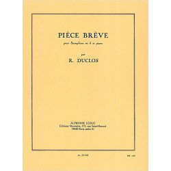 Pierre Duclos: Piece Breve-Saxophone Mib et Piano