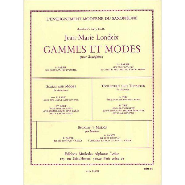 Jean-Marie Londeix: Gammes et Môdes Vol.1 (Saxophone solo)