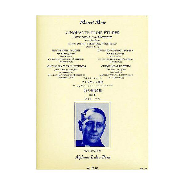 Marcel Mule: 53 Etudes for all Saxophones Vol.2, d'après Boehm, Terschak et Fürstenau
