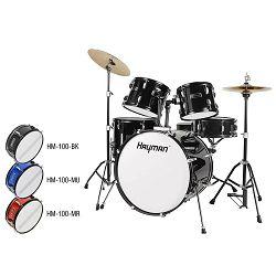Hayman ste bubnjeva HM-100-MU - metallic blue
