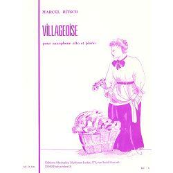 Marcel Bitsch: Villageoise-Saxophone Mib et Piano