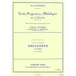 Paul Jeanjean: 20 Etudes Progressives et Melodiques Volume 3 -  Clarinette