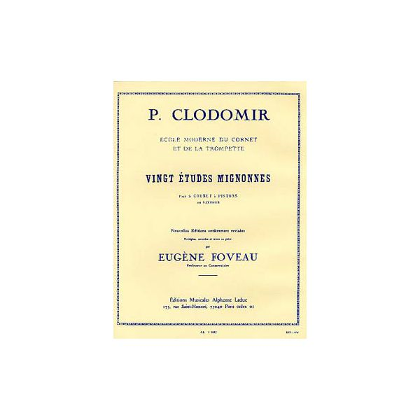 Clodomir: 20 Etudes Mignonnes - Cornet