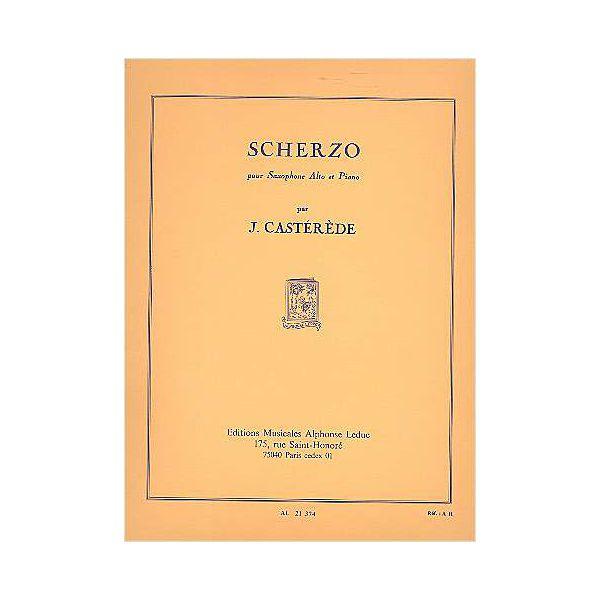 Jacques Castérède: Scherzo - Saxophone Mib Et Piano